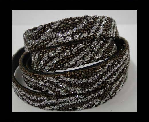 Buy Flat Nappa Glitter  Style Cord  - 10mm - SE-FNG-05 at wholesale prices
