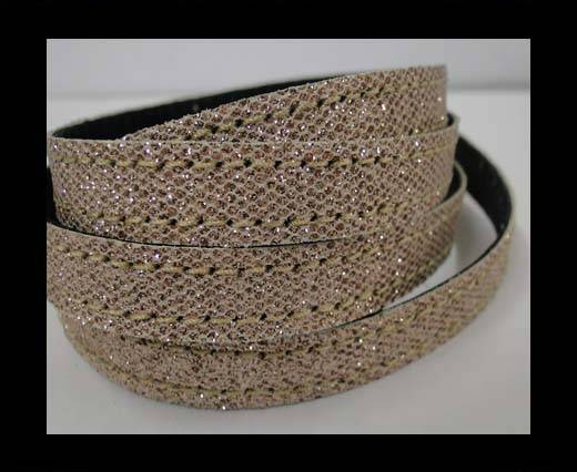 Buy Flat Nappa Glitter  Style Cord  - 10mm - SE-FNG-15 at wholesale prices