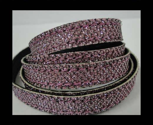 Buy Flat Nappa Glitter  Style Cord  - 10mm - SE-FNG-19 at wholesale prices