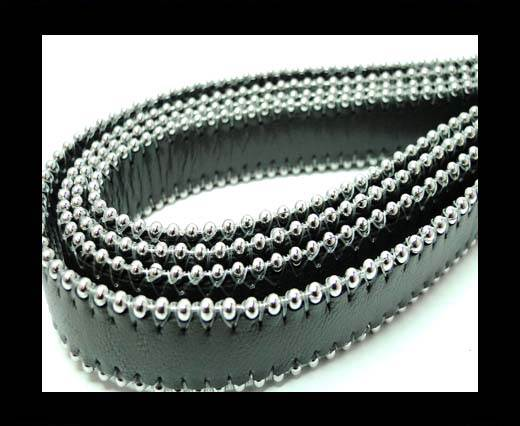 Buy Flat Nappa Leather with Chains - 14mm -  Dark Grey at wholesale prices