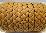 synthetic nappa leather Braided-Cords-10mm-Camel