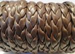 synthetic nappa leather Braided-Cords-10mm-Coffee