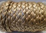 synthetic nappa leather Braided-Cords-10mm-Light Gold