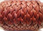 synthetic nappa leather Braided-Cords-10mm-Maroon