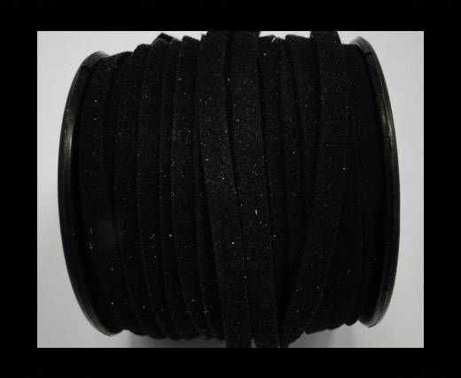 Flat Suede Cord - 5mm - Black