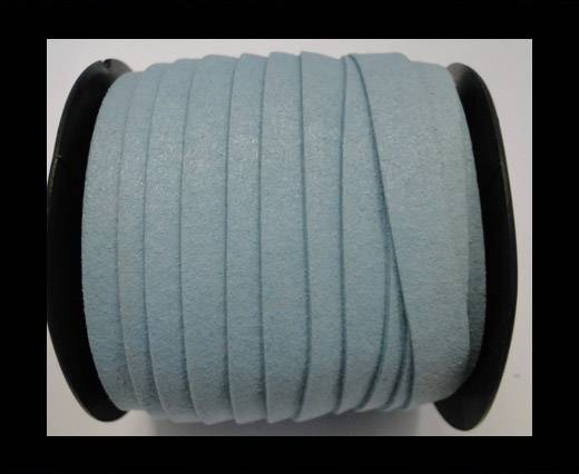 Flat Suede Cord - 10 mm - Turquoise