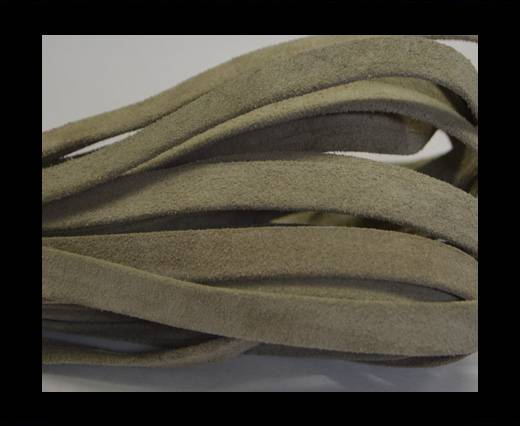 Flat Suede Leather-10mm-Khaki grey