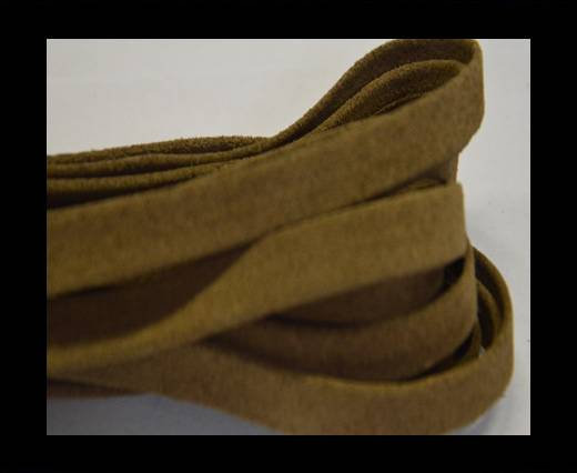 Flat Suede Leather-10mm-Nut brown