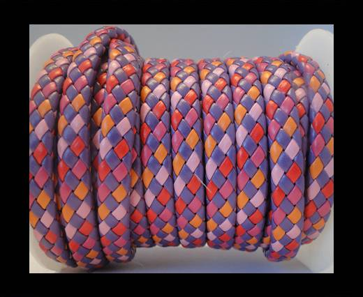Flat Thick Braided Leather -10mm- Tango Style