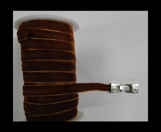 Buy Flat Velvet Cords-10mm-Dark brown at wholesale prices