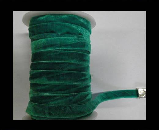 Buy Flat Velvet Cords-10mm-Green at wholesale prices