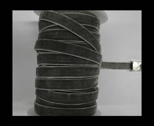 Buy Flat Velvet Cords-10mm-Grey at wholesale prices