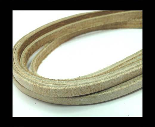 Buy Flat Vintage Leather - 5mm - Bone at wholesale prices
