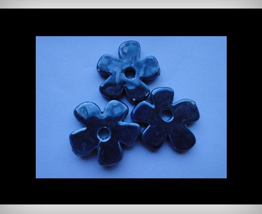 Flower-37mm-Dark Blue