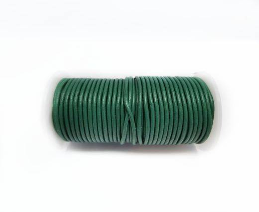 Round leather cord-2mm-FOREST GREEN
