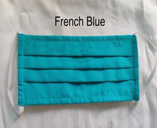 French Blue - Washable Cotton Mask