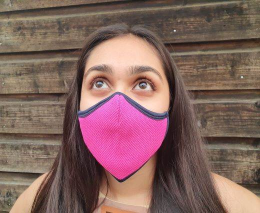 6 ply cotton washable masks - Fuchsia