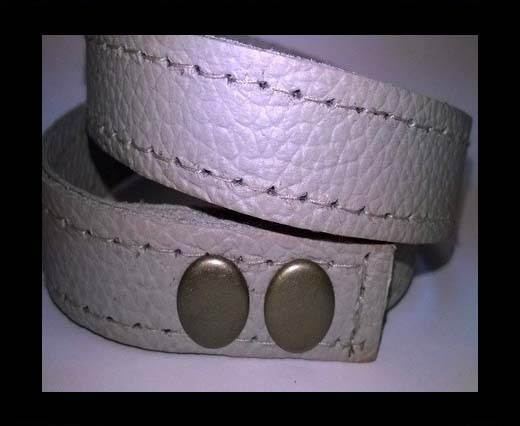 Full Real Leather bracelets - Cream- 43cms