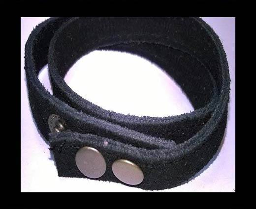 Full Real Leather bracelets - Black 2- 43cms