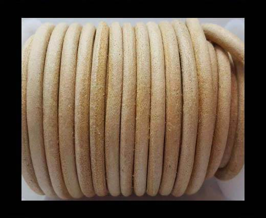 Round leather Cords - 6mm - Natural