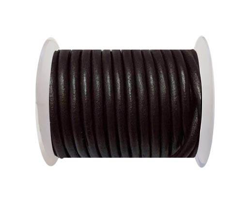 Round leather Cords - 6mm - SE.Dark Brown