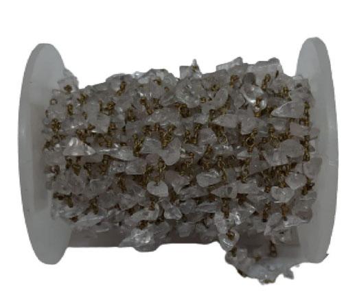 Gemstone chips chain crystal quartz