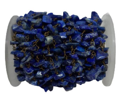 Gemstone chips chain natural blue