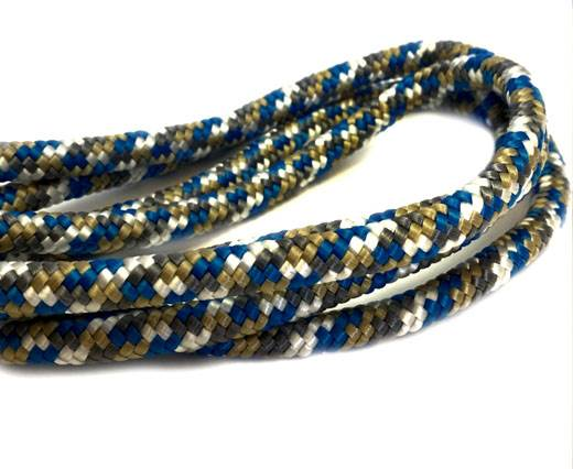 Paracord 8mm - GOLD GREY WHITE BLUE
