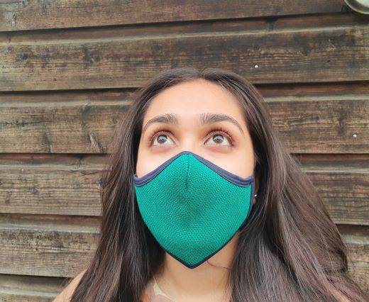6 ply cotton washable masks - Green