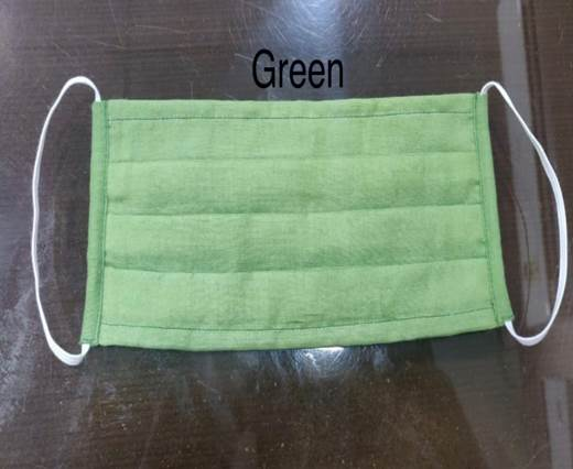 Washable Cotton Mask - Straight - Green