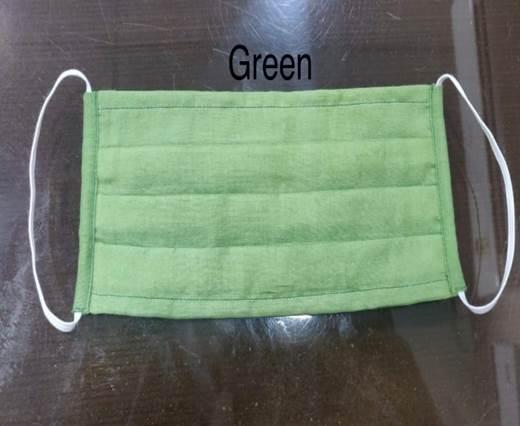 Green  Washable Cotton Mask