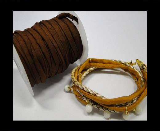 Habotai silk cords - Dark coffee