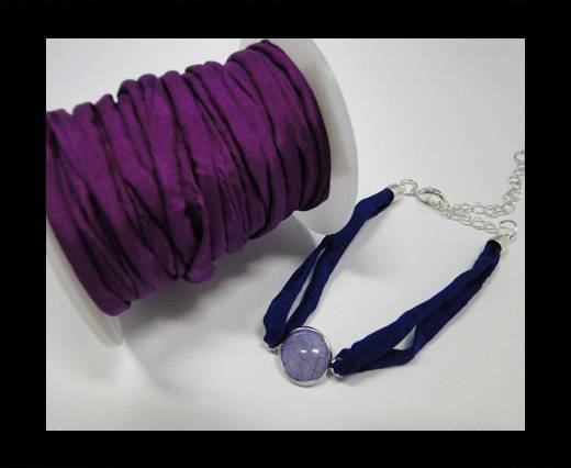 Habotai silk cords - Fashion Purple