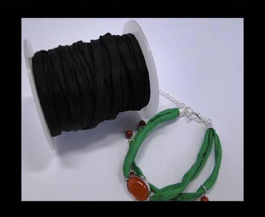 Habotai silk cords - Black