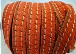 Hair-On Leather with Stitch-Dark Orange-10mm