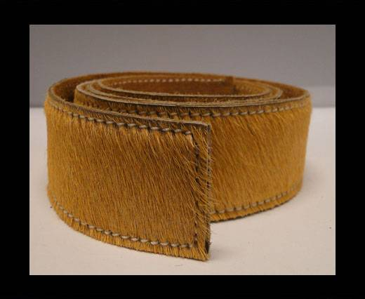 Buy Hair-On Leather Belts-Light Brown-40mm at wholesale prices