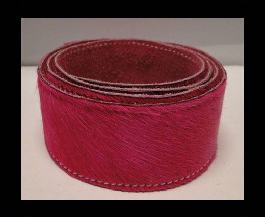 Hair-On Leather Belts-Fuchsia-40mm