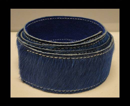 Hair-On Leather Belts-Dark Blue-40mm