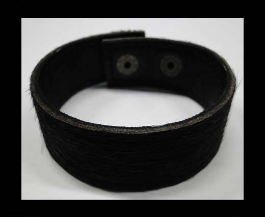 Hair-on bracelet-Black-20mm