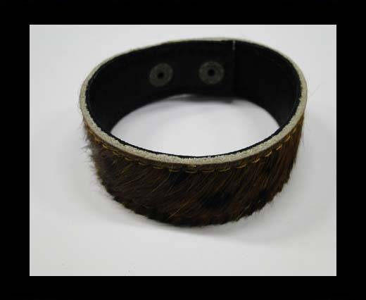 Buy Hair-on bracelet-Brown-20mm at wholesale prices