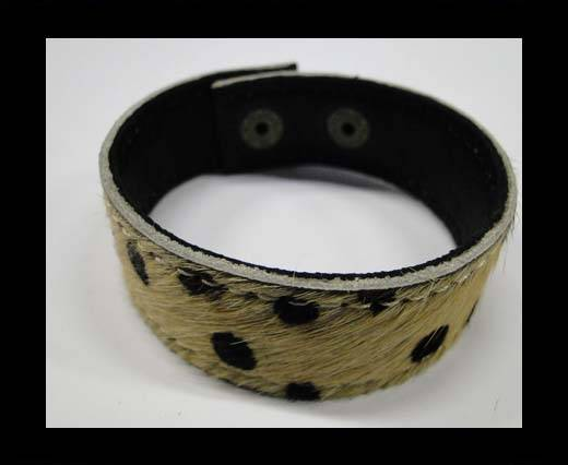 Hair-on bracelet-Dalmation print brown-20mm