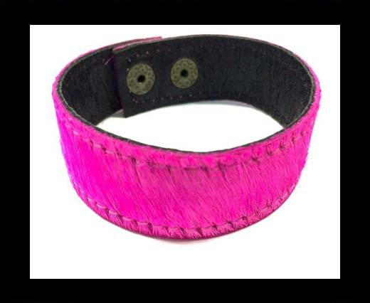 Hair-on bracelet-Fuscia-20mm