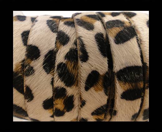 Hair-On Leather Flat-Leopard Skin (light)-20mm