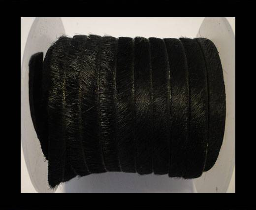 Hair-On-Flat Leather-Black-10MM