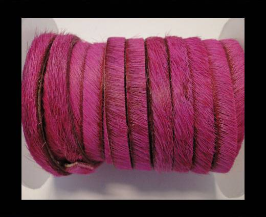 Hair-On-Flat Leather-Fuchsia-10MM