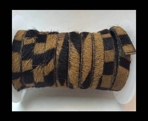 Buy Hair-On Flat Leather- 5MM -Brown Zebra at wholesale prices