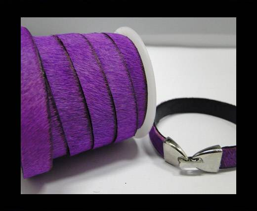 Buy Hair-On-Leather-Cords-Purple -10mm at wholesale prices