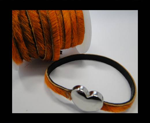 Hair-On Leather- Dark Orange-5mm