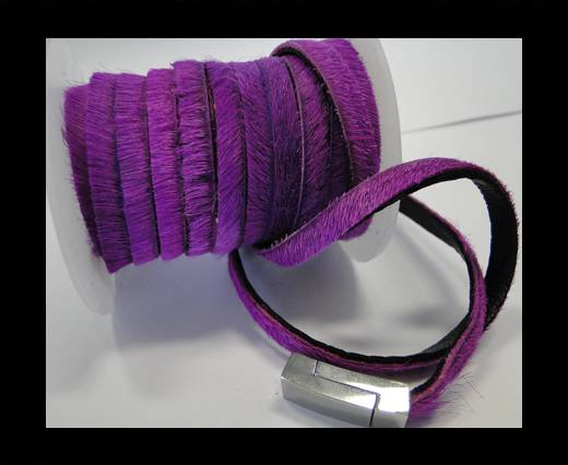 Hair-On Leather- Purple -5mm