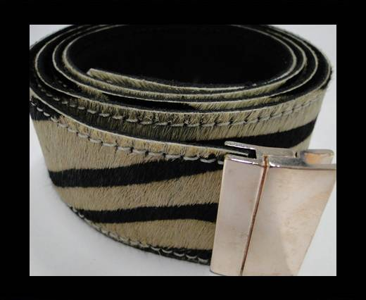 Hair-On Leather Belts-Zebra -40mm
